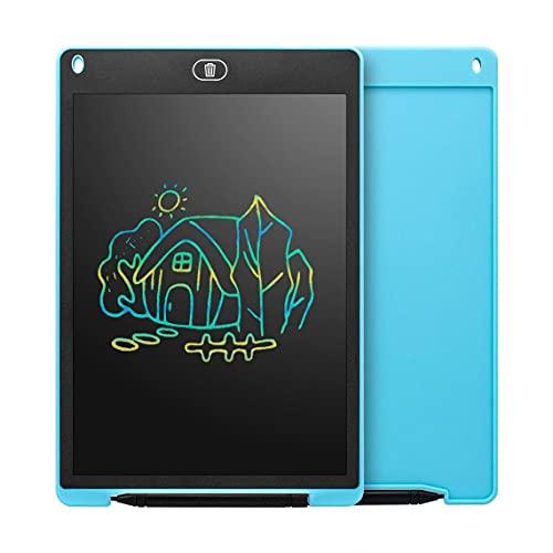Tree-es-Life Tableta de Escritura LCD Inteligente portátil de 12 Pulgadas, Bloc de Notas electrónico, gráficos de Dibujo, Almohadilla de Escritura a Mano, Tablero Ultrafino Azul