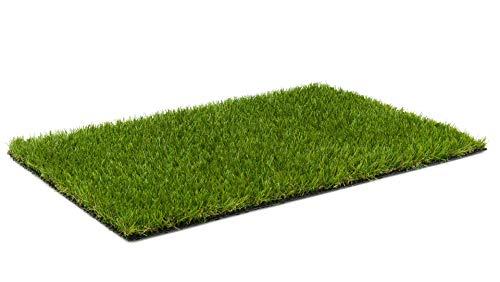 Kunstrasen Rasenteppich Cook für Garten - Florhöhe 20 mm - Gewicht ca. 1993 g/m² - UV-Garantie 8 Jahre (DIN 53387) | Rollrasen | Kunststoffrasen 4 m x 5 m
