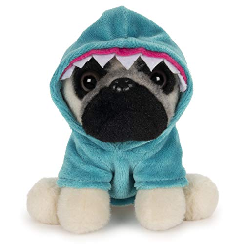 GUND Doug The Pug Shark Dog Stuffed Animal Plush, 5""