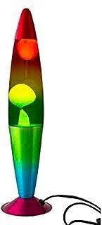 DRW Lámpara de Lava Arcoiris con Cuerpo metálico Ø 10,8 x 42,5 cm
