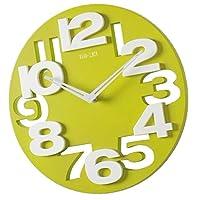 中空デザインの12インチサイレント装飾壁時計電池式アナログ時計-緑