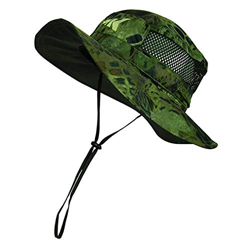 KastKing Sol Armis UPF 50 Boonie Hat - Sun Protection Hat, Fishing Hat - Breathable Fabric - Comfortable - Prym1 Camo, Ambush