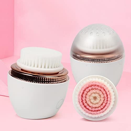YYL Portátil Cepillo de Limpieza Facial, Cepillo Limpiador Giratorio para la Piel de Poros Profundos con 2 Cabezales de Cepillo Exfoliante, Microdermoabrasión Avanzada