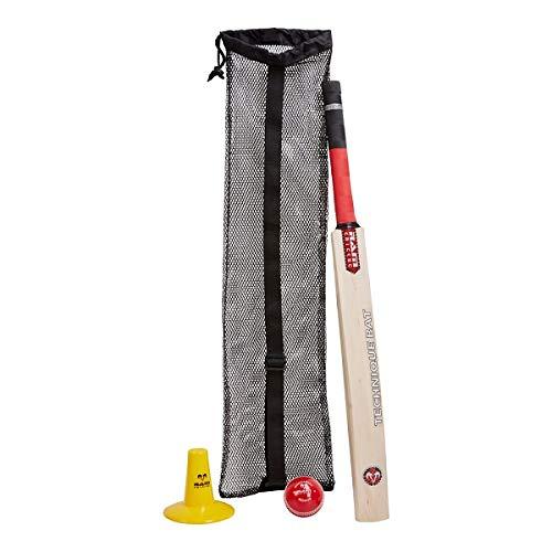 Ram Juego de Entrenamiento de bateo de críquet Incluye Bate técnico, Wondaball, se envía en Bolsa de Transporte – 2, 3387-4, 4