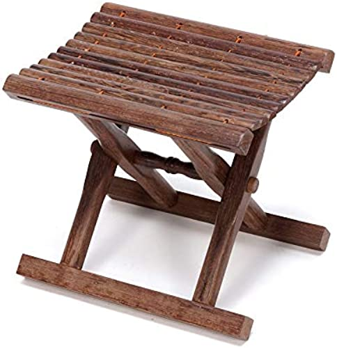 FS Chaise Portative, Chaise De Pêche Se Pliante en Bois Massif De Chaussures De Chaise De Pêche Portative De Chaise