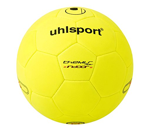 uhlsport Themis Indoor Fußball Ball, gelb/Schwarz, 5