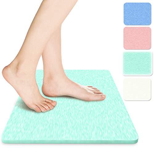 MOKYU Alfombrilla de baño antideslizante, 61 x 41 cm, alfombra de baño de secado rápido, absorbente