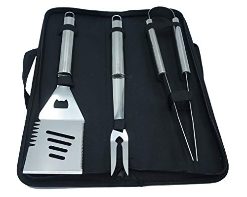Denkich Stainless Steel BBQ Tool Set 3-Piece Set in Carry Case