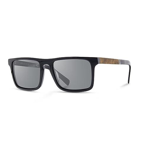 49dfebcec1 Shwood - Govy 2 Rectangle Acetate   Wood Sunglasses