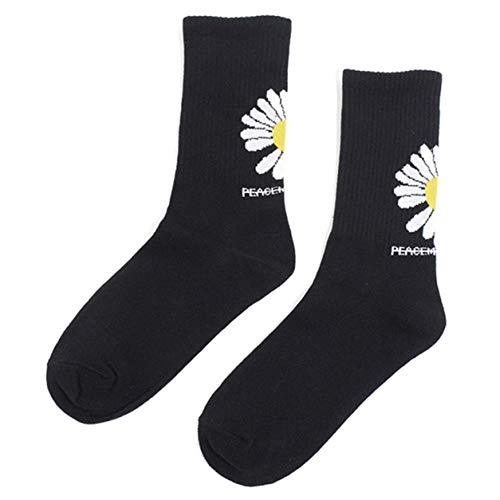 DWWW Originele Sokken Lange Sokken Ontwerp Katoen Sokken Voor Meisjes Effen Kleur Sokken voor meisjes