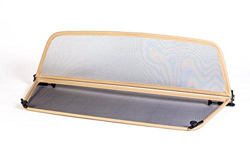 GermanTuningParts Déflecteur de vent pour VW Beetle 5C7 (à partir du 2012) - Pliable - avec fermeture rapide - Beige | Filet Anti-Remous Coupe | Déflecteur d'air