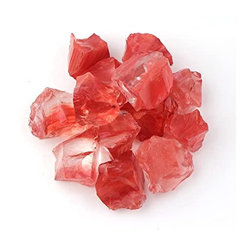 Changskj Cristal Natural Rugoso 100 g de injerto de Masa Crudo cría de Cristal áspero de Cuarzo Roca Natural Amatista citrina fluorita Reiki curación Muestra Mineral (Farbe : Watermelon Red)