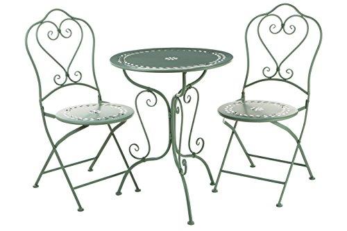 Premier Housewares Finchwood Jardin Table Set, 3 Piece - Green