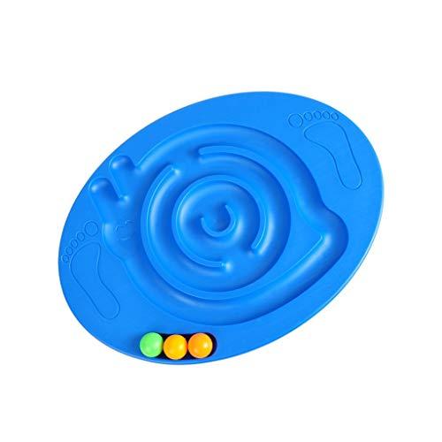 Xiao Jian Plataformas de equilibrio Balance Board for la Educación de los niños con tres pequeñas bolas de caracol Junta laberinto entrenamiento del equilibrio Entrenar Sentido Kinder Dispositivo de f