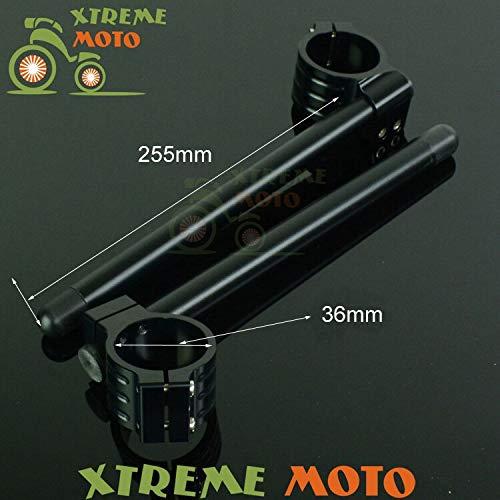 Aluminum 36MM Fork Tube Adjustable Handlebars Clipons Clip-on For KZ550 KZ650 KZ700 KZ750 KZ1000 Motorcycle Street Racing Bike