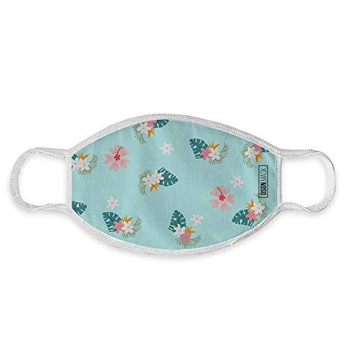 Dilara Mundbedeckung für Kinder waschbar Sternehimmel - Maske aus Baumwolle für Jungs und Mädchen mit Motiv (Blumen)