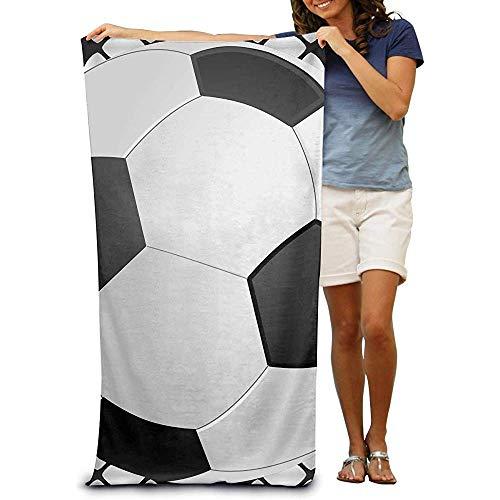 utong Toallas de Playa 100% algodón 80x130cm Manta Seca Negra para Nadadores Manta de Playa Negra de fútbol
