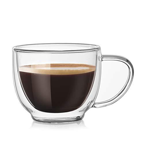 Zodensot 200 ml transparente de doble pared de vidrio Espresso Cappuccino Cup Tasse Latte Domestic Taza de café Caneca Taza Café Gato Xicara Vasos de té