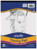 Pacon UCreate Tracing Pad, White, 9' x 12', 40 Sheets
