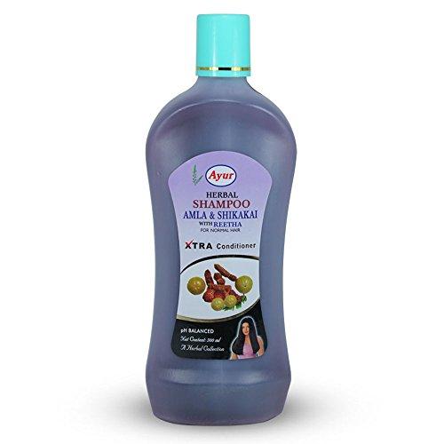 Ayur Herbal Shampoo, Amla & Shikaki with Reetha For Normal Hair Xtra Conditioner 500ml