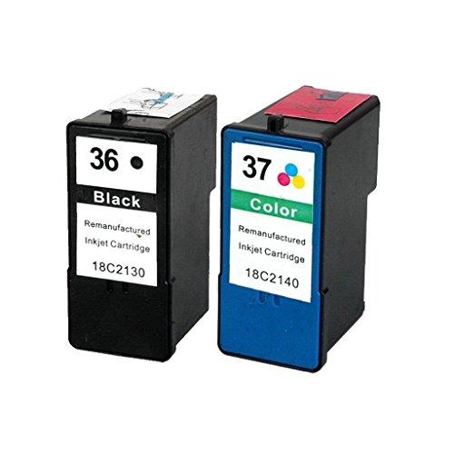 Karl Aiken 2 cartuchos de tinta para impresora Lexmark 36 XL 37 XL (juego de cartuchos de tinta negra y color), para Lexmark X3650 X4650 X5650 X6650 X6675 Z2420