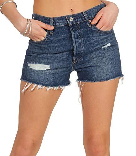Levi's 501 Original Short Pantalones Cortos, Azul (Silver Lake 0018), W26 (Talla del Fabricante: 26) para Mujer