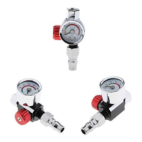 Toygogo 3X Spritzpistole Luftdruckregler Manometer Mit Manometer Kompakte Größe