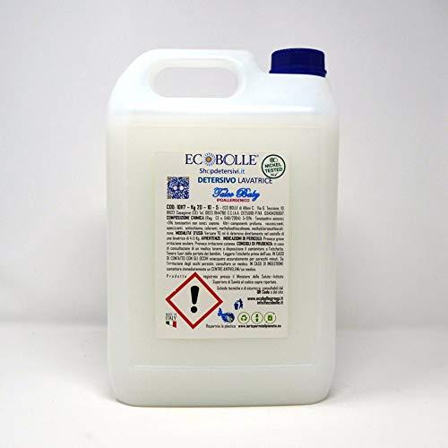 ECOBOLLE Talco Baby con Profumo Ipoallergenico - Detersivo Per Lavatrice (20KG)