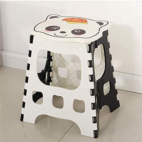 S Bianco Sgabello in plastica Spessa Sgabello Multiuso Antiscivolo per Bambini Sgabello Creativo per Soggiorno in Bagno