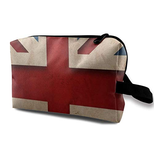 XCNGG Travel Makeup Storage Bag- Portable Toiletry Handbag Small Cosmetic Organizer Pouch for Women & Men- British Flag