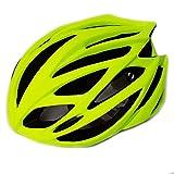 UPANBIKE Casco de Bicicleta de montaña Ciclismo Casco de Bicicleta Seguridad Deportiva Protección Cómodo Casco Transpirable Ligero para Adultos Hombres Mujeres,Verde Fluorescente