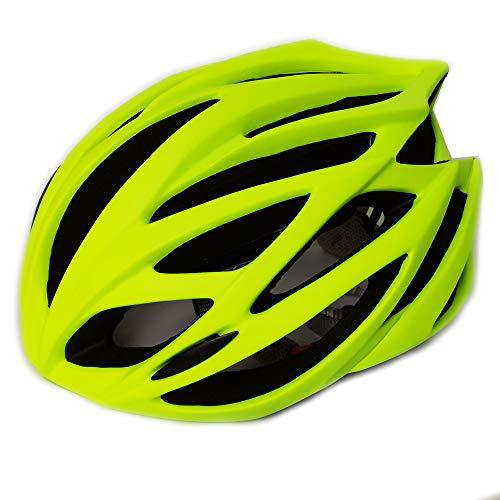 UPANBIKE Casco da Mountain Bike Casco da Ciclismo Casco da Ciclismo Sport Sicurezza Protettivo Comodo Casco Traspirante Leggero per Uomo Adulto Donna (Verde Fluorescente)
