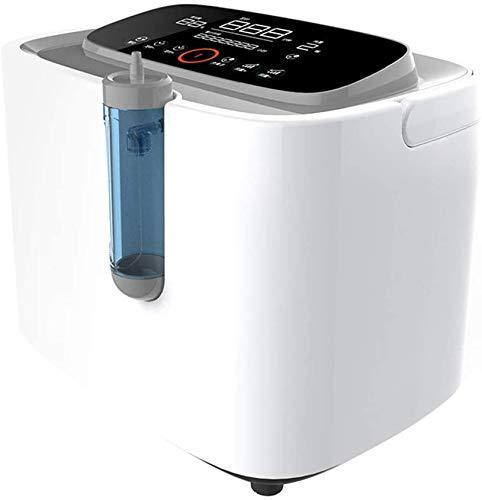 4YANG Sauerstoff Konzentrator, 1-5L / Min 90% Tragbarer Sauerstoffkonzentrator-Generator Einstellbare tragbare Sauerstoffmaschine für zu Hause und auf Reisen AC 220V