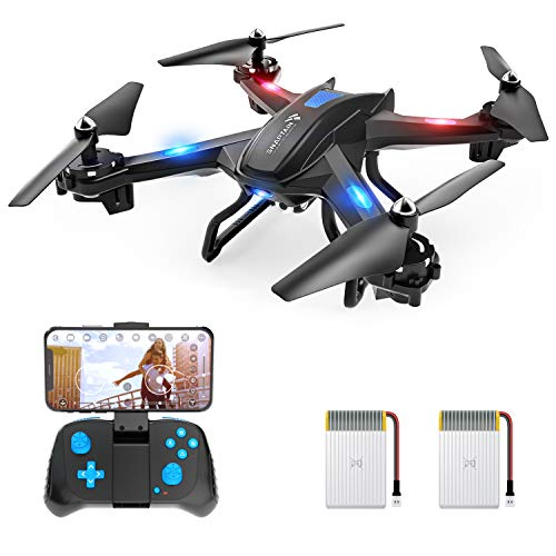 SNAPTAIN WiFi FPV Drone with 720P HD Camera, Voice Control Live Video RC Quadcopter with Altitude Hold, Gravity Sensor Function