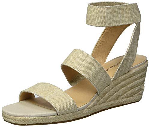 Lucky Brand Women's MINDARA Espadrille Wedge Sandal, Natural, 8