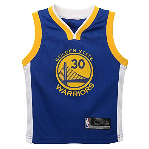 Outerstuff NBA Infants Toddler Official Name and Number Replica Home Alternate Road Player Jersey (2T, Stephen Curry Golden State Warriors Blue)