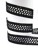 Baumwolle, 35mm breit, schwarz, Spitze, nähen, Meterware,