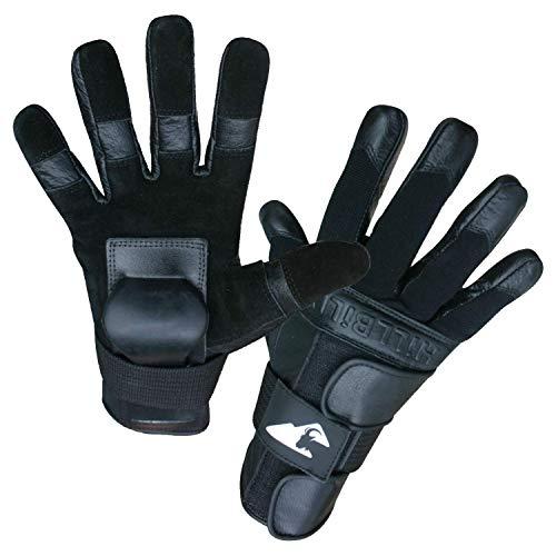 Hillbilly Wrist Guard Gloves - Full Finger (Black, Large)