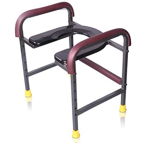 SJY Toilette Rack Rack Elderly Pregnant Woman Toilette Bowl Heightening Commode Chair Squatting Mobile Toilet Host Service Support Frame Bathroom Armrest,A