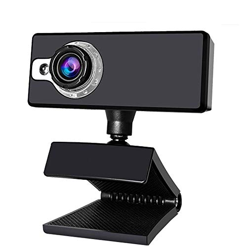 CHENALIFE USB Camera High-Definition Video Built-in Digital Microphone Webcam Manual Focus Computer Accessories for Computer PC Laptop Desktop (Color : Black+White)