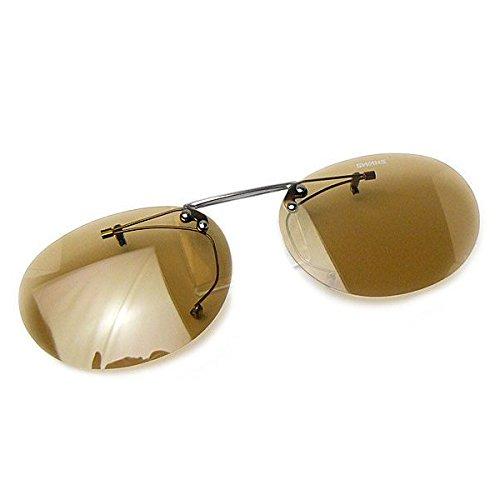 SWANS(スワンズ) サングラス メガネにつける クリップオン 偏光レンズ 跳ね上げタイプ SCP-3 LBRP2 偏光ライトブラウン2