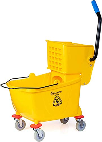 Simpli-Magic Mop Bucket with Wringer, 26 Quart, Yellow