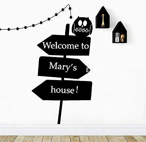 Nombre personalizado guía de vinilo etiqueta de la pared papel tapiz para la decoración del hogar sala de estar dormitorio decoración etiqueta de la pared 43x76 cm