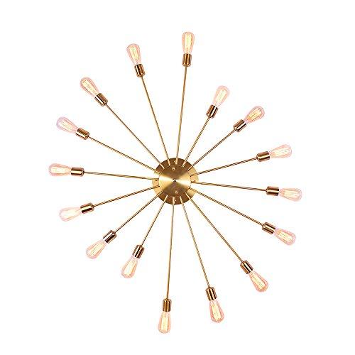 Deckenleuchte Wandleuchte OYI Vintage Wandlampe Industrie Lampe Innenbeleuchtung 16 E27 Lampenfassung Metall für Wohnung Bar Arbeitzimmer Schlafzimmer Gold