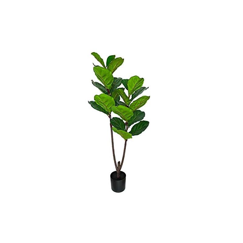 silk flower arrangements besamenature 4-feet artificial fiddle leaf fig tree/faux ficus lyrata for home office decoration