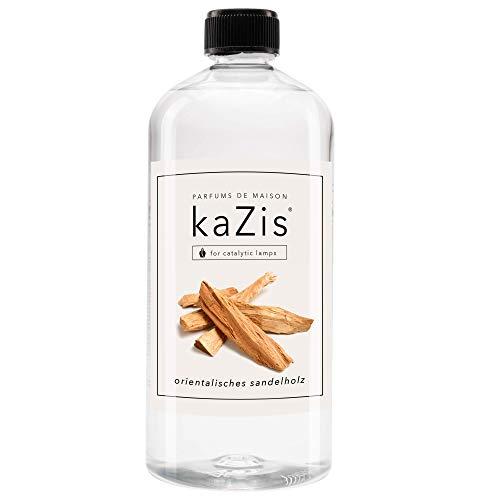 KAZIS® I Orientalisches Sandelholz I Für Alle Katalytischen Lampen I Raumduft I Parfums De Maison I Nachfüll-Öl (Refill) I 1000 ml I 1 Liter I herb süß I Lampe Berger geeignet