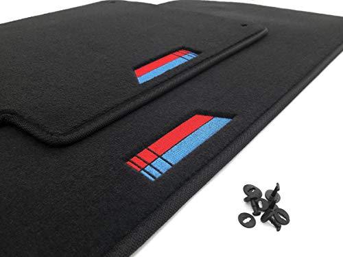 kh Teile E46 Fußmatte/Velours Automatten M-Edition Design schwarz 2-teilig vorn (Bestickt)