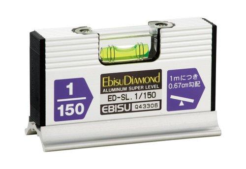 エビス(EBISU) 水平器 スロープレベルワイド ED-SL・1/150 給排水工事用 シルバー