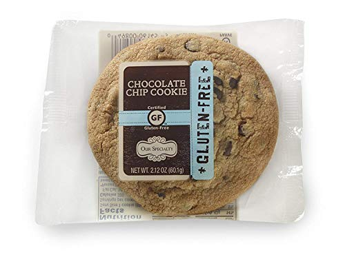 Our Specialty Certified Gluten-Free (GF) Chocolate Chip Cookies, Individually Wrapped Cookies, 2.12 Ounce Each (frozen: 0 degrees)