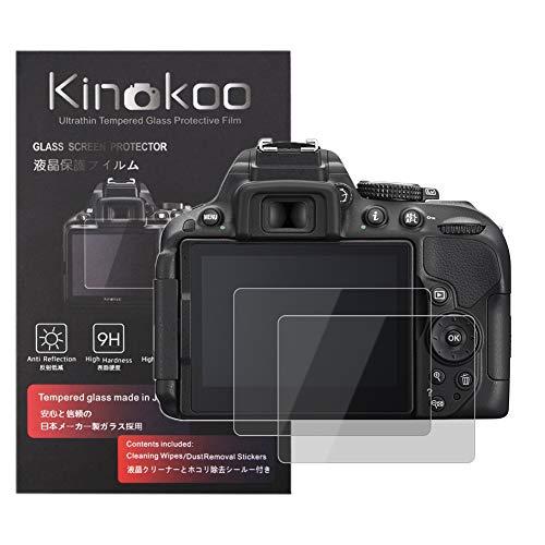 kinokoo Película de Vidrio Templado para Nikon D5200/D5100 Crystal Clear Film Protector de Pantalla Nikon D5200 D5100 sin Burbujas/antiarañazos (Paquete de 2)